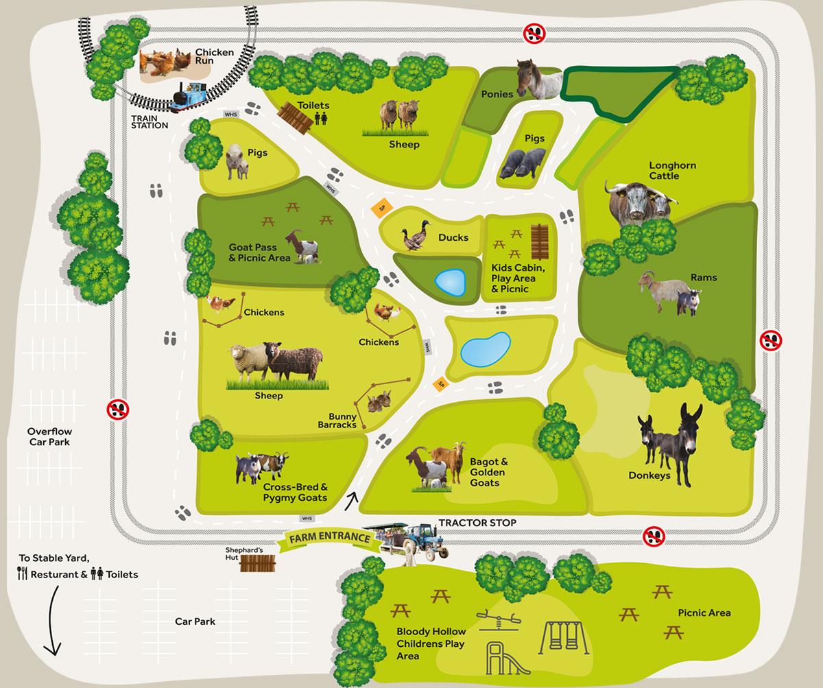 Farm Map Hatfield Park Farm: house map photo